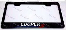 Mini COOPER S Red Stainless Steel Black License Plate Frame Rust Free W/ Caps