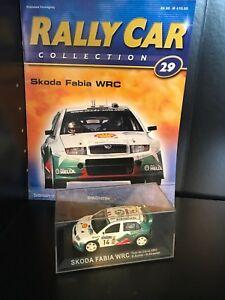 IXO-1-43-RALLYE-VOITURE-Skoda-Fabia-WRC-2003-Tour-de-Corse-D-Auriol