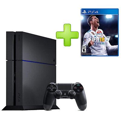 Sony PlayStation 4 Schwarz 500 GB DualShock  Controller HDMI + Fifa 18