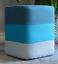 Keraiz ® voeu coloré rétro conception robuste en coton avec repose-pieds en tissu carré Pouffe