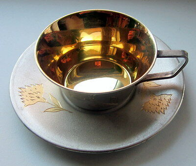 Russia Russian Cup and Saucer Silver 875 (136,9 g)