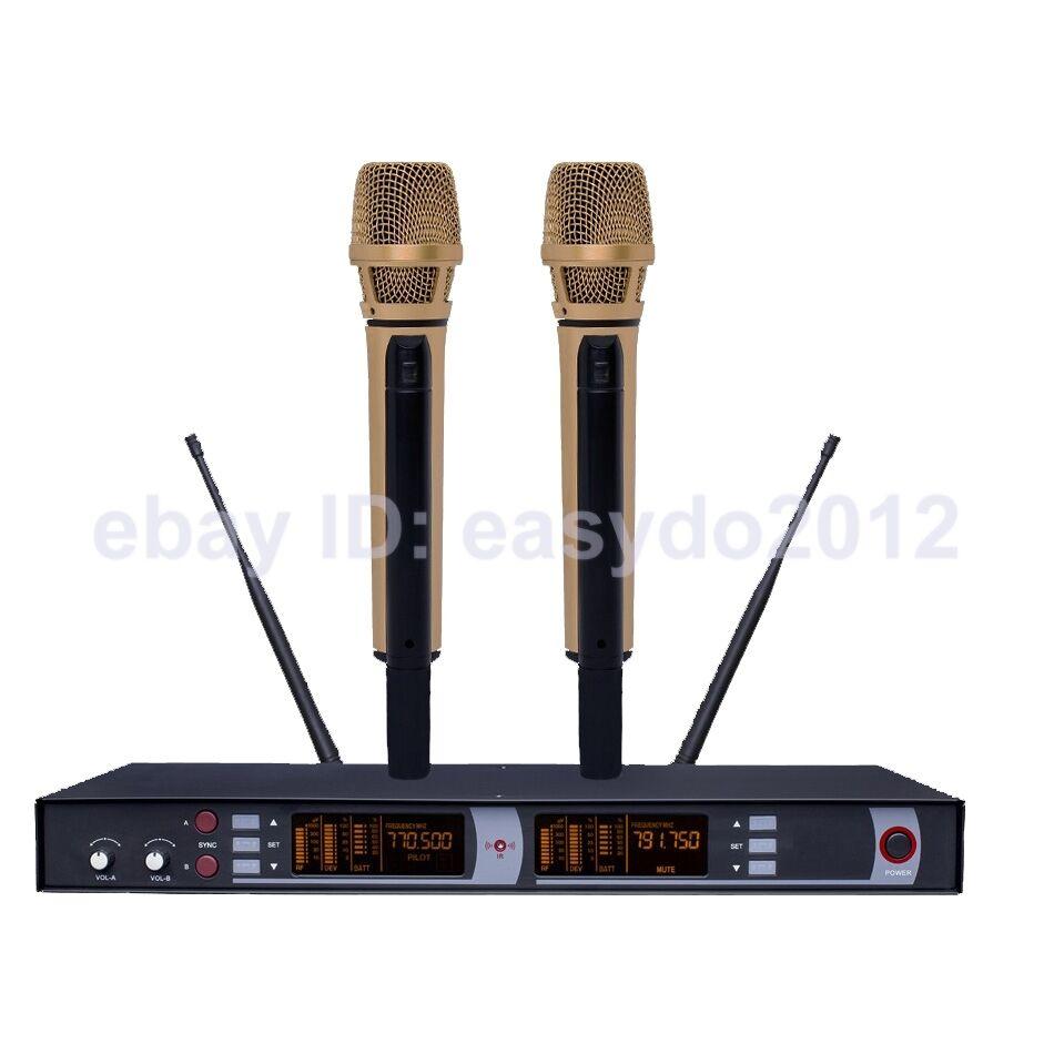 micwl em5200 golden limited edition rechargeable wireless microphones mic system 757450802769 ebay. Black Bedroom Furniture Sets. Home Design Ideas