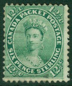 EDW1949SELL : CANADA 1859 Scott #18 Very Good-Fine, Used. Light cancel. Cat $150