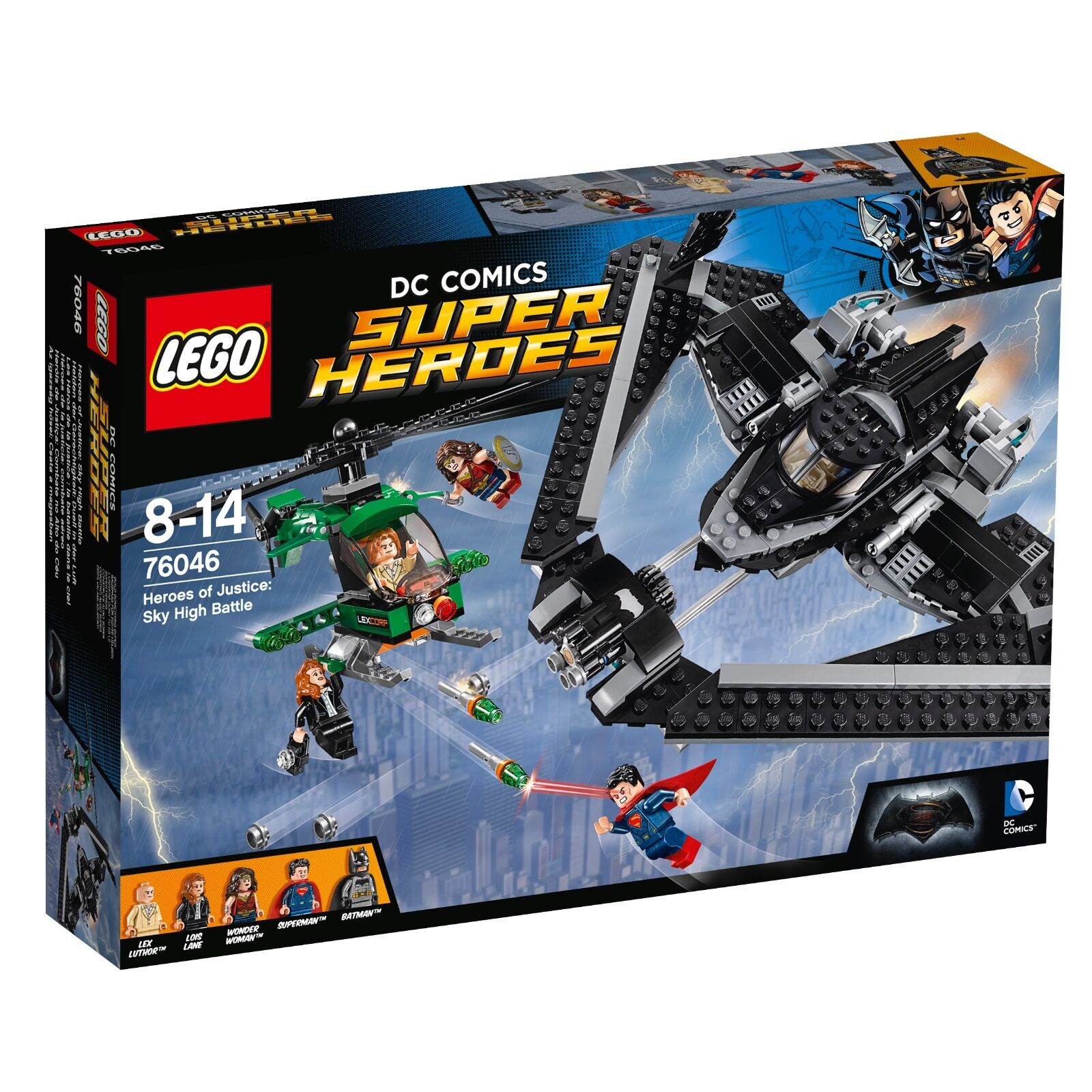 LEGO ® DC Comics ™ SUPER HEROES 76046 Heroes of Justice Sky High BATTLE NUOVO NEW