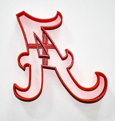 University Of Auburn Alabama Tigers Fondant Baking Tool Cookie Cutter 3D Printed