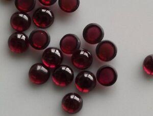 Lot-Natural-Garnet-Hyderabadi-5X5-mm-Round-Cabochon-Loose-Gemstone-J28