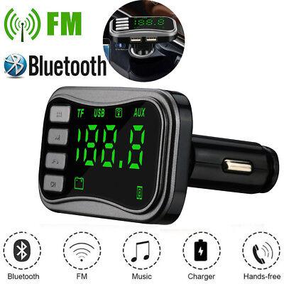 Wireless BT FM Transmitter Modulator Car Kit MP3 Player Dual USB Kit Charger