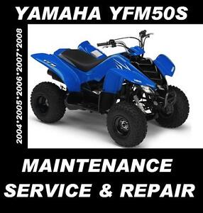 Yamaha-YFM50S-YFM50-YFM-50-ATV-Quad-Service-Maintenance-Repair-Rebuild-Manual