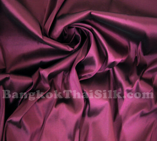 PURPLE PLUM 100/% PURE SILK 2-TONE FABRIC 4 BRIDEMAID DRESS CRAFT SKIRT SCARF