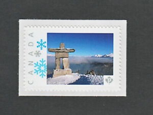 INUKSHUK-ROCK-STATUE-Sculpture-picture-postage-stamp-MNH-Canada-2013-p3sn02