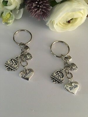Just Married With Gift Box Wedding Gift .. Gift For The Groom....Key  Ring....