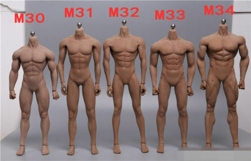 1 6 12  TBLeague PL2015-M30 Headless Steel Encased Muscle Male Body Model Figure