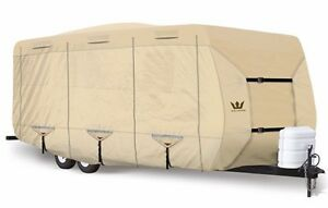 S2-Expedition-Premium-Travel-Trailer-RV-Cover-fits-23-039-24-039-Length-TAN