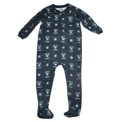 Sport Weitere Ballsportarten Nba Unk Brooklyn Netz Kleinkind Fuß Schlafanzug Bodysuit Reißverschluss Schwarz üPpiges Design