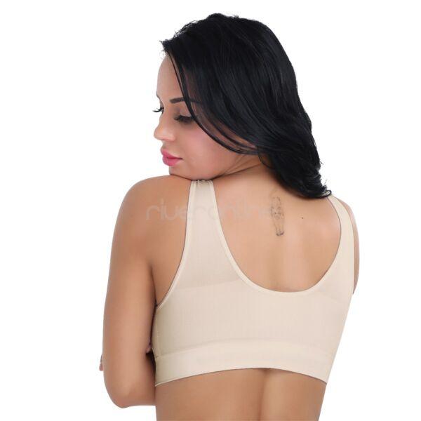 Nahtlos Seamless Fitness BH Sport Bra Bustier ohne Bügel Frauen Top Hautfarbe