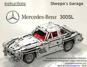 Details About Sheepos Lego Technic Custom Mercedes Benz 300sl 54 Gullwingonly Instructions