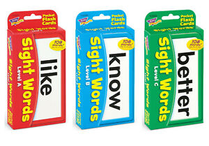 Reading - Sight Words Flash Cards - Full Set 168 Cards - Fun Home Learning