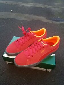 meet 04175 c6c95 Details about PUMA Suede Classic, Size 7Y, color Ribbon Red/ Shocking  Orange, Brand New