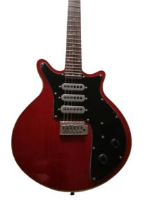 Custom Brian May Guitar Black Pickguard Tremolo Bridge Wine Red Electric Guitars