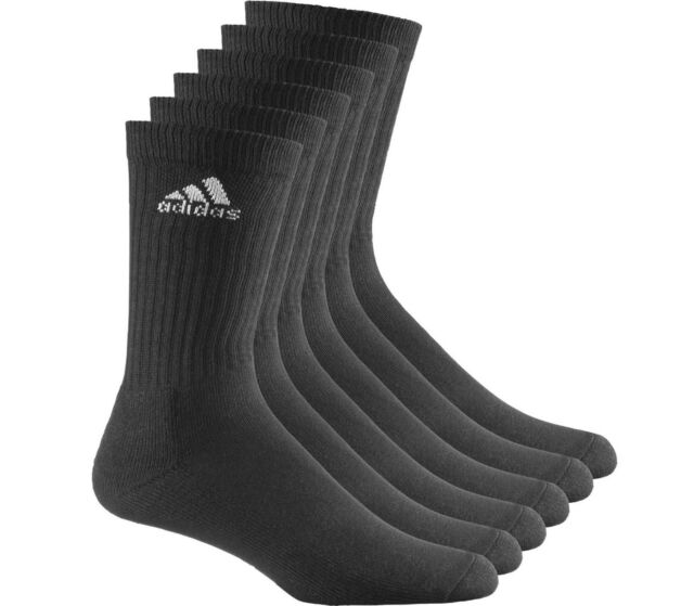 3a91250f71 Adidas Sports Socks 6 Pairs ADICREW HC Half Cushion Mens Black