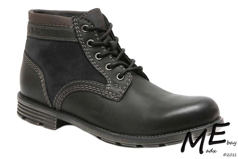 New Clarks Collection Darian Mid Uomo Pelle Stivali Sz. 12 (MSRP  130)