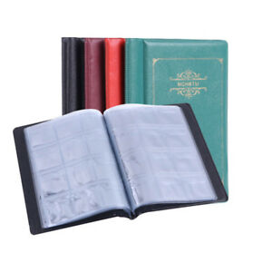 New-Collecting-120-Pockets-World-Coin-Collection-Storage-Holder-Money-Album-Book
