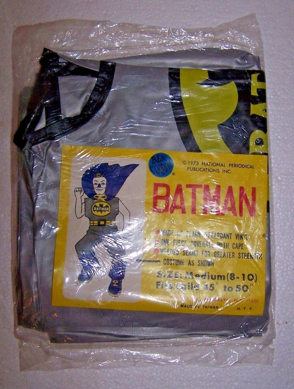 Rare 1973 Ben Cooper National Periodical Batman SEALED Costume ONLY No mask box
