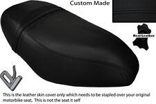 BLACK STITCH CUSTOM FITS PIAGGIO ZIP 50 125 00-13 DUAL LEATHER SEAT COVER