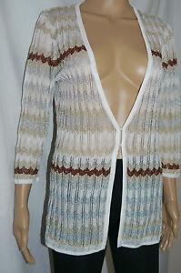 rayures M en réduite Taille Cardigan White Market House pour à tricot Black femme Pqn01wf