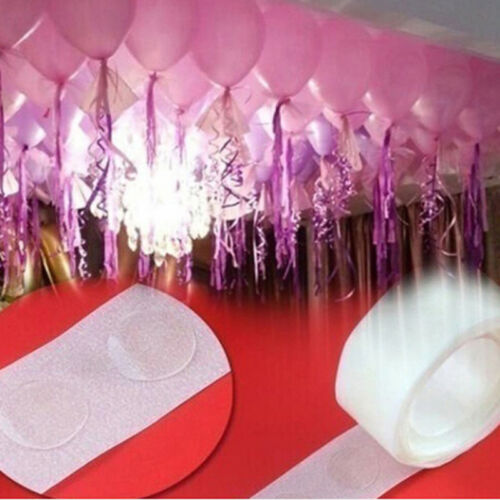 2 Rolls glue special dot double side adhesive balloon sticker ballons tool XS