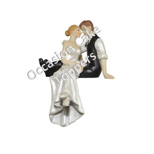 Wholesale Bulk Buy Wedding Cake Topper 24xbride And Groom Figure Sitting On Cake