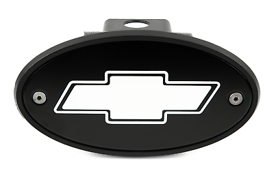 Chevy Bowtie Silver Logo 2 Trailer Hitch Receiver Cover ABS Plastic