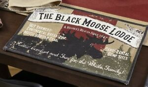 Olivia-039-s-Heartland-Black-Moose-Lodge-cabin-Placemats-Table-Runner-Dish-Towels