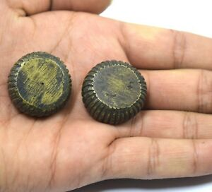 Pair Of Rare Old High Quality Solid Bronze Scale Weights G15-12 Au Cheap Sales Antiques