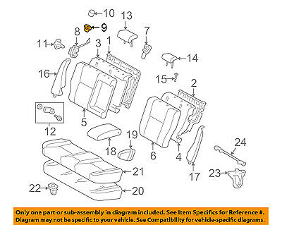 TOYOTA Genuine 72646-33020-B6 Seat Back Stop Button Grommet