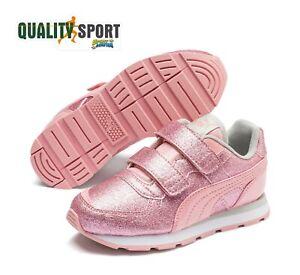 Dettagli su Puma Vista Glitz Rosa Scarpe Shoes Bambina Sportive Sneakers 369720 05 2019