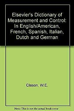 Elsevier's Dictionary of Measurement and Control by Clason, W. E.-ExLibrary