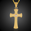 18k-Goldkette-mit-Kreuz-Anhaenger-vergoldet-Kirche-Herrenkette-Damen-Frauen-G29 Indexbild 3