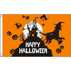 3x5 Happy Halloween Night Flag Aluminum Pole Kit Set 3/'x5/'