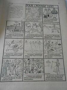 Gravure 1899 D'après Un Almanach De Nostradamus Pour L'année 1899