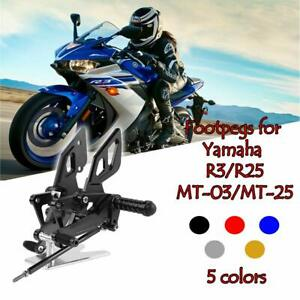Rearsets Rear Sets Footpegs CNC Adjustable For Yamaha YZF-R25 YZF-R3 2015 2016 2017 2018 2019