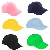 Plain Baseball Cap Boy Girl Adjustable Children Snapback Kids Hat Sport Hats LA