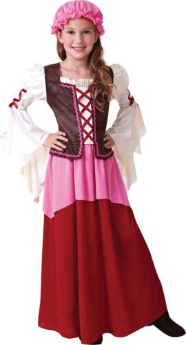 KIDS VICTORIAN LITTLE TAVERN GIRL FANCY DRESS BOOK WEEK SIZE 4-12 YEARS
