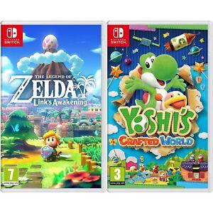 Nintendo Links Awakening & Yoshi's Crafted World Bundle - Import Region Free