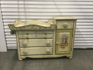 Details About Hand Painted Baby Crib Diaper Changing Station Dresser Set 8100