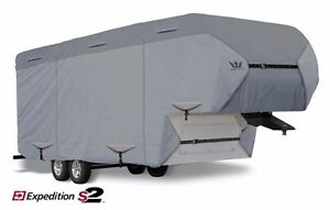 S2-Expedition-Premium-5th-Fifth-Wheel-Toy-Hauler-RV-Cover-fits-33-039-34-039-Length