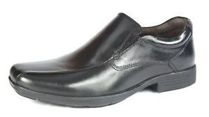New Boys pod Black Graham Leather Shoes