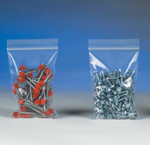 "1000 of 8/""x20/"" 2 Mil Clear Reclosable Zipper Poly Lock Top Zip Bags  FDA USDA"