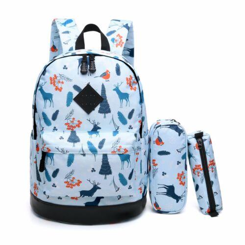 Classic Bookbag for School Cute Deer Laptop Backpack Travel Daypack Waterproof