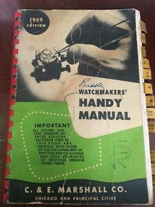 1949 Edition Watchmakers Handy Manual